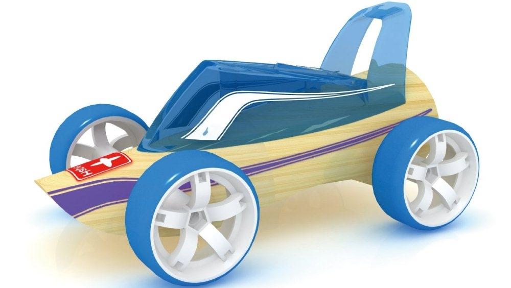Hape Bamboo Roadster, verantwoord scheuren maar...